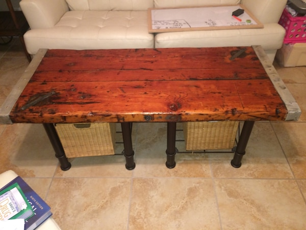Wwii Liberty Ship Hatch Cover Coffee Table