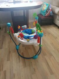 baby's white and blue jumperoo Edmonton, T5W 2W5