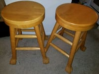 Two brown wooden bar stools Baltimore, 21207