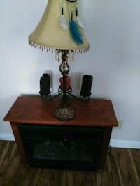 brown and black table lamp Claremont, 28610