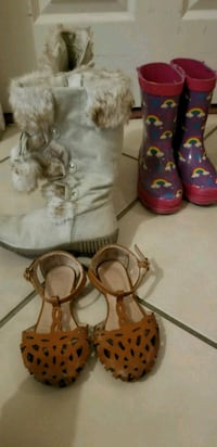 Ivory winter boots and brown sandals  Orlando, 32837