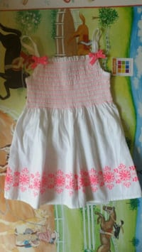 For girl 5t white and pink floral sleeveless dress Norcross, 30093