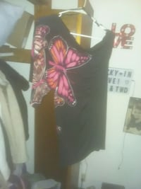 Black with butterflies one shoulder Johnson City