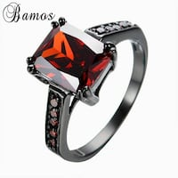 silver-colored red gemstone encrusted ringf Clarksville, 37040