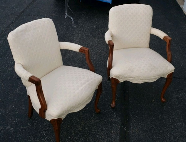 Antique Comfy Parlor Arm Chairs - 1 Pair