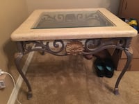 brown wooden framed glass top coffee table Mobile, 36695