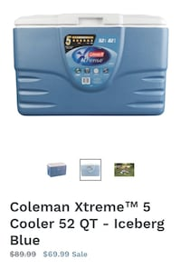 Like new condition Coleman Xtreme cooler Surrey, V3T 5K1