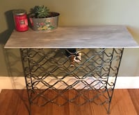 rectangular brown wooden top table with black metal base Harpers Ferry, 25425