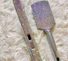 Crystal Flat Iron and Brush