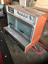 Orange and stainless steel electronic appliance