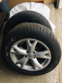 Winter tires HANKOOK OPTIMO 4S with 4 NISAN ALLOYS 536 km