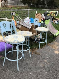 Three bar height swivel stools. Need a good painting And seat fabriccreplaced.  Will make great diy project Kearneysville, 25430