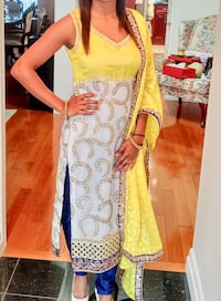 Yellow white and navy Indian suit Mississauga, L4Z 3B8