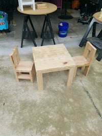 Unfinished kids table an 2 chairs North Port, 34286