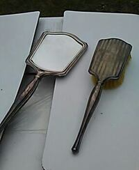 Antique mirror and handbrush sterling silver 925