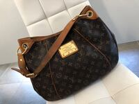 borsa a tracolla in pelle Louis Vuitton nera e marrone Cameri, 28062