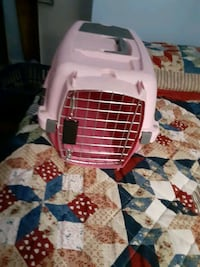Pink animal carrier