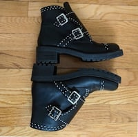 Lord & Taylor studded combat boots Vancouver, V6B 1T9