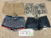 Women's size 5 shorts lot of 4  Bethlehem, 18017