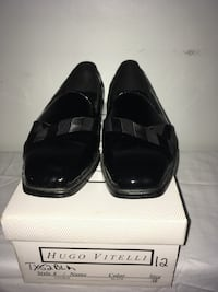 Hugo Vitelli Black Dress Shoes Men's Sz. 12