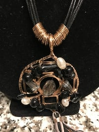 Black Necklace with Stones RESTON