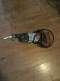 black and gray corded power tool 2275 mi