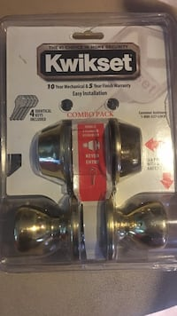 Kwikset combo pack door knob in pack Potomac, 20854