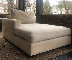 Cream colored chaise lounge