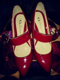 A RED HOT PATENT SHOE BY LAUNDRY Dundalk, 21222