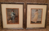 "2 Framed Vintage Prints - Blue Boy & Victorian Lady  11"" x 15""  $15 for the pair  Pick-up in Newmarket (ref # offtovv) Newmarket"