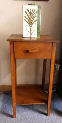"Wood Lamp Table 16""W x 31""H"