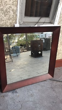 square brown wooden framed mirror Kelowna, V1W 4A8