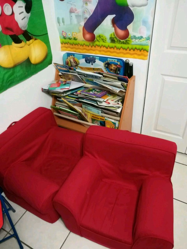 Kids Red Foam Chairs
