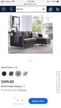 black fabric sectional sofa screenshot Alhambra, 91801