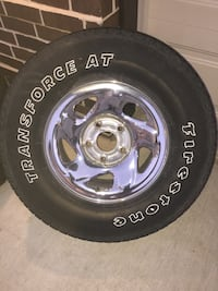 Universal set of wheels and tires for Dodge truck