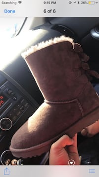 Unpaired brown suede boots with box Baltimore, 21206