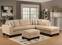 Opulence Taupe Reversible Sectional | OP375 Houston