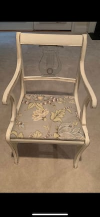 white wooden frame padded armchair Springfield, 22152