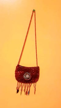 red and white floral crossbody bag Regina, S4N 5K5