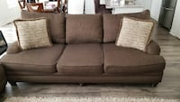 Brown Fabric 3-Seat Sofa New Tecumseth, L0G 1W0
