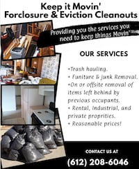 House cleaning and junk removal  Minneapolis