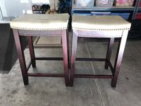 wooden framed and padded stools Las Vegas, 89117