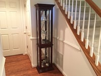 Illuminated Curio Cabinet + Crystal Decorating Items Fairfax