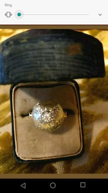 Antique diamond dome ring. Beautiful.