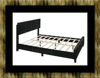 Queen bed platform bed with mattress Laurel