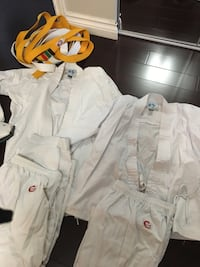 Martial arts kids outfits and protection