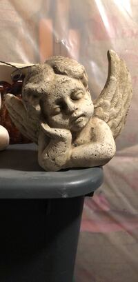White and black ceramic figurine angel Nashua, 03063