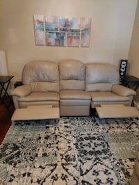 Full Leather Sofa / Couch 450 or OBO Brampton, L6X 3W3