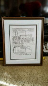 two white wooden framed painting of house Toronto, M3H