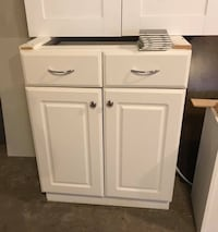 White wooden cabinet with drawer Kitchener, N2N 1C7